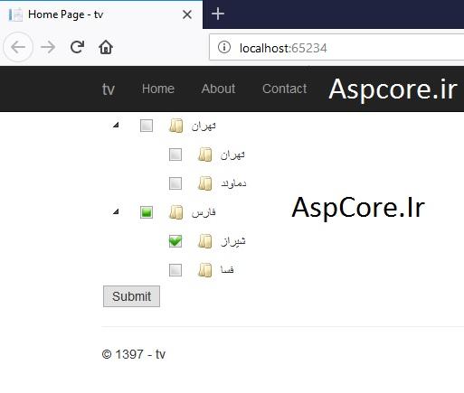 نمایش اطلاعات به صورت درختواره در asp.net mvc